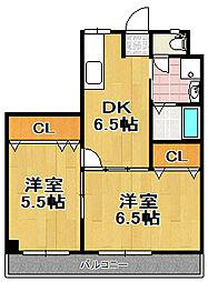 マンション忠岡[4階]の間取り