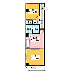 プレジール・ニナ[4階]の間取り