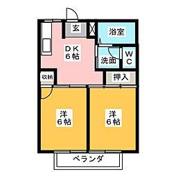 サザンウインドPartII[2階]の間取り
