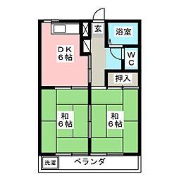 愛知県岡崎市欠町字東畑の賃貸マンションの間取り