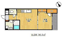 夢野アパートメント[4階]の間取り