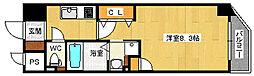 阪神本線 姫島駅 徒歩7分の賃貸マンション 10階1Kの間取り