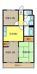 朝霞シティハイツ[3階]の間取り
