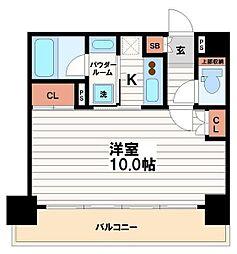 大阪府大阪市中央区今橋2丁目の賃貸マンションの間取り