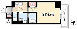 エスリード名古屋東別院 8階1Kの間取り