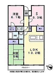 ルーエネグルミ[2階]の間取り