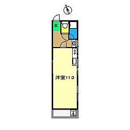 コーポ美和[3階]の間取り