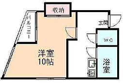 コンチネンタル清水[3階]の間取り