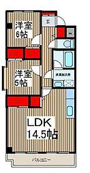 トキ壱番館[6階]の間取り