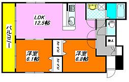 アクア・DUO 401号室[4階]の間取り