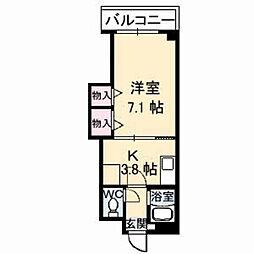 山口県下関市伊倉本町の賃貸マンションの間取り