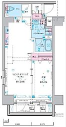 JR総武線 浅草橋駅 徒歩5分の賃貸マンション 4階1LDKの間取り