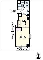 SYMPATHIQUE[3階]の間取り