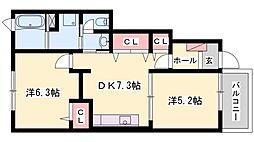 トレスプラティーノトレス[1階]の間取り