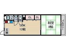 三和第10マンション[1階]の間取り