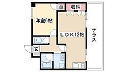 愛知県名古屋市昭和区石仏町1の賃貸マンションの間取り
