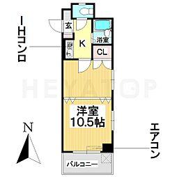 愛知県名古屋市瑞穂区堀田通7丁目の賃貸マンションの間取り
