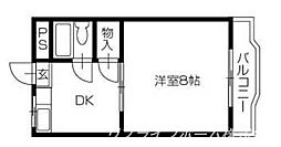 第1丸米ハイツ[3階]の間取り