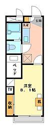 兵庫県姫路市京口町の賃貸アパートの間取り