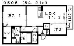 仮)D-room天美我堂2丁目[305号室号室]の間取り