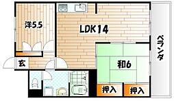 アーバンプラザ21[6階]の間取り
