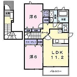 パルフェ[2階]の間取り