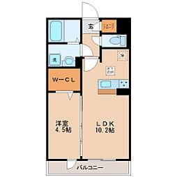 仙台市営南北線 五橋駅 徒歩10分の賃貸アパート 3階1LDKの間取り