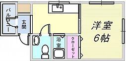 阪神住吉駅前ビル[3階]の間取り