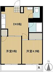 第一和光ビル[8階]の間取り