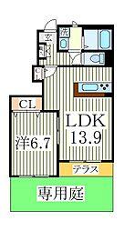 Clochette・A[1階]の間取り