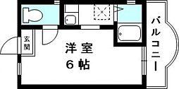 カサブランカ弓ノ木[201号室号室]の間取り