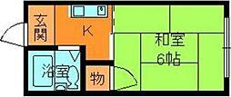 奈良県生駒郡安堵町大字東安堵の賃貸アパートの間取り