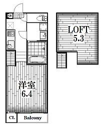 ハーモニーテラス姫宮町[2階]の間取り