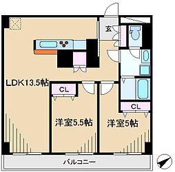 イトーピア六義園マンション[4階]の間取り