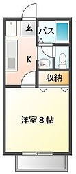 ジュネライフ A棟[2階]の間取り