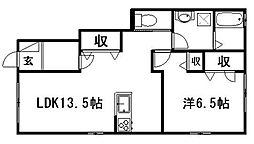 静岡県浜松市南区青屋町の賃貸アパートの間取り