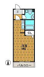 ヒルズ新百合[4階]の間取り