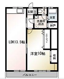 澤野ハイツ[2階]の間取り