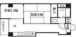神奈川KOシティ[3階]の間取り