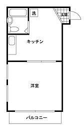 ロワール駒沢[4階]の間取り