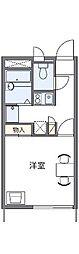愛知県名古屋市緑区徳重2の賃貸アパートの間取り