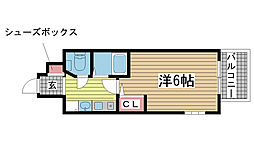 エステムコート神戸三宮山手センティール[205号室]の間取り