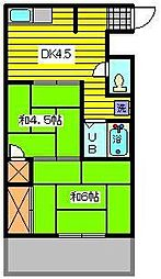 エクセレント大木[3階]の間取り