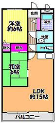 益寿美荘[1階]の間取り