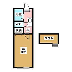 ホワイトキャッスル南小泉12番館[1階]の間取り