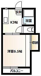 桜コーポA[201号室]の間取り
