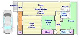 [一戸建] 兵庫県神戸市垂水区清水通 の賃貸【/】の間取り