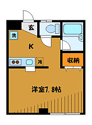 東京都小平市たかの台の賃貸マンションの間取り