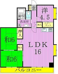 クリスタルマンション[5階]の間取り