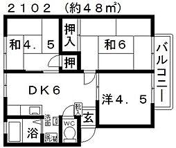 ファミール林[B105号室号室]の間取り